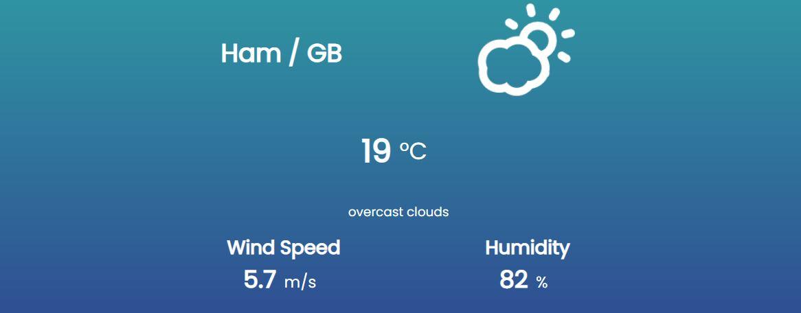 Weather app with vanilla Javascript