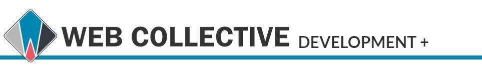 web collective development plus logo